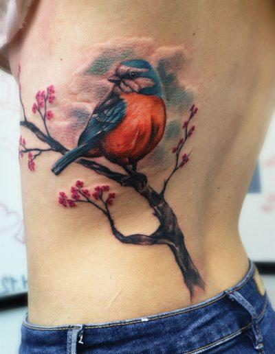 full_colour_colourful_bird_tattoo