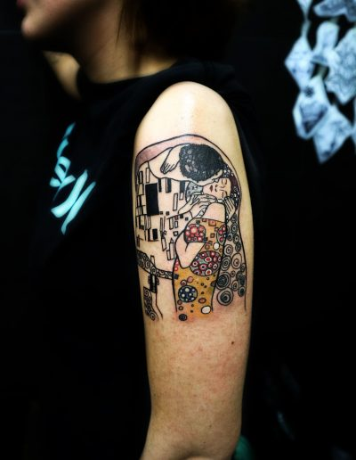 klimt-abstract-colour-tattoo-ink-black-woman-paint