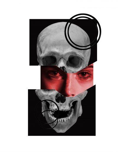 skull face flash tattoo